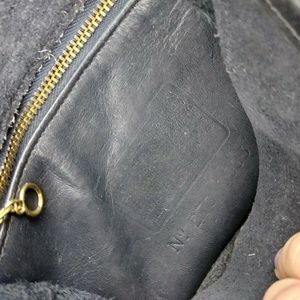 Coach Bags - Vtg Coach Navy Legacy Crossbody Saddle Bag
